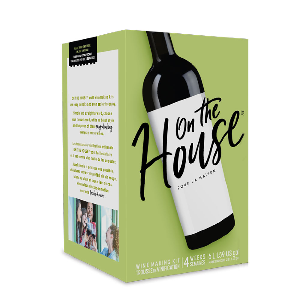 On the House  Wine Making Kit Packaging